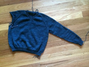 top down sweater in MadelineTosh vintage